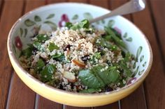 Nutty Quinoa Spinach and Cranberry Salad
