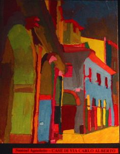 """Case di Via Carlo Alberto"", by Samuel Agnoletto a student of Prof. Fabio Sandrini at L. Coletti Middle School in Treviso, one of 95 communities in the Sister City twinning with Sarasota and Treviso Province in Italy. The art was displayed at the Hands of Heritage Fest at Robarts Arena in Sarasota in 2003"