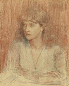 Portrait of May Morris -Dante Gabriel Rossetti