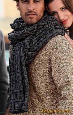 Мужу | Записи в рубрике Мужу | Меня окружают чудесные люди. На всю голову чудесные. : LiveInternet - Российский Сервис Онлайн-Дневников Mens Scarf Fashion, Men Scarf, Mens Scarf Knitting Pattern, Knit Crochet, Sweater, Men's Scarves, Ideas, Knitting For Beginners, Scarf Ideas