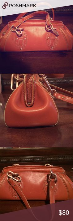Cole Haan Nurse Purse Purse is used but in great condition. Light scratching on outside inside has one imperfection as shown in picture Cole Haan Bags Mini Bags