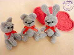 "crochet toy / Valentine's animals designed by Katerina Vet as ""88 crafts"""