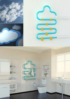 Al mal tiempo buena cara, radiador con forma de nube.