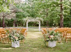 Janie and Adam worked with Shindig Events to plan their garden ceremony and gorgeous tented reception in Virginia! Photography: Jen Fariello
