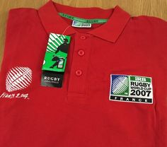 IRB Rugby 2007 France World Cup Wales Team Large Polo Shirt Red NEW NWT