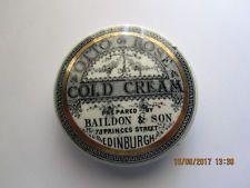 Baildon & son Edinburgh otto of rose cold cream pot lid with a complete Gold Ban Vintage Tins, Vintage Labels, Old Crocks, Cold Cream, Pot Lids, Antique Boxes, Edinburgh, Pots, Bottles