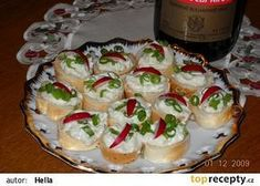 Pomazánka z Nivy Czech Recipes, Ethnic Recipes, Party Snacks, Ham, Catering, Sushi, Brunch, Food And Drink, Appetizers