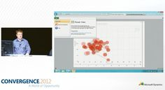 Craig Dewar at the #Conv12 opening day general session for Dynamics CRM: PowerView report export to PowerPoint