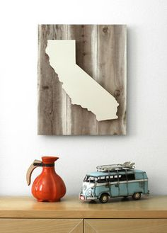 Calfornia Dreamin on Reclaimed Wood contemporary artwork