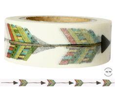 Masking Tape - Washi Tape PFEILE bunt - ein Designerstück von Fitzi-Floet bei DaWanda