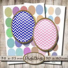 Printable Chevron Eggs, 38 x 51 mm, 30 x 40 mm, Oval Jewelry Images, Chevron Digital Collage Sheet, Instant Download, Spring Colors, d5 Chevron, Diy Jewelry, Unique Jewelry, Pattern Mixing, Collage Sheet, Spring Colors, Digital Collage, Eggs, Printables