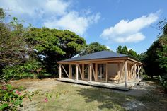 Completed in 2016 in Motobu, Japan. Images by Koichi Torimura. Okinawa, once called the Ryukyu Kingdom, has been blessed with rich forest and ocean resources.  The Okinawan people organised a unique social system...
