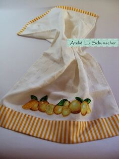 Ateliê Lu Schumacher: Pano de copa com patchcolagem - laranjas
