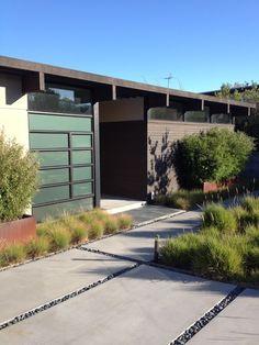 Home Design and Interior Design Gallery of Amazing Modern Courtyard Concrete Pathway Burlingame Eichler Rebuild
