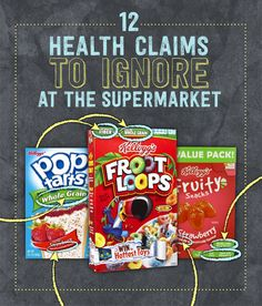 There are a lot of labels on processed food to make it sound healthy. Click to find out what to ignore!