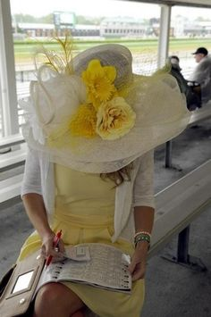 Hats of all sizes and colors are a tradition at the 139th Kentucky Derby at Churchhill Downs on May 4, 2013. (Nina Greipel/ Special to The Courier-Journal) May 4, 2013