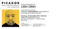 Picador Guest Professorship #Reading with #Blogger, #Photographer and #Writer Linh Dinh in #Leipzig - don't miss!