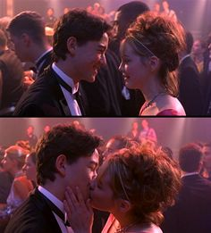 """My all-time favorite movie kiss! Bianca and Cameron from the movie """"10 Things I Hate About You"""" (1999)"""