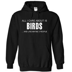 All I care about is Birds - #birthday shirt #tshirt text. CHEAP PRICE => https://www.sunfrog.com/LifeStyle/All-I-care-about-is-Birds-4220-Black-12973226-Hoodie.html?68278