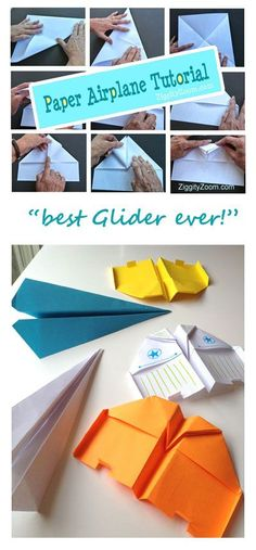 paper airplane glider tutorial- The best Paper Airplane to Make DIY- Kids - Activities- Physics - Learning - Hands On - Boredom Buster