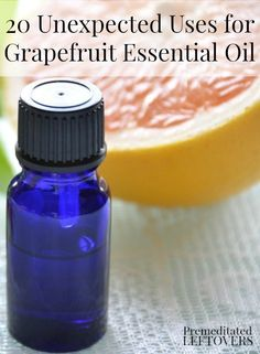 Grapefruit essential oil has many uses, from soothing sore throats to curbing sugar cravings! Here are 20 Unexpected Uses for Grapefruit Essential Oil.