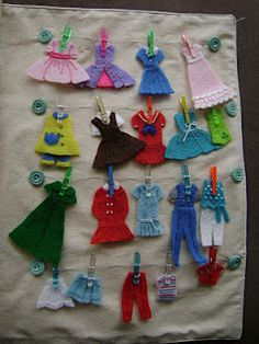felt clothes for dress-up doll