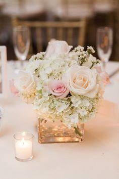 Light Pink Flower Arrangements Centerpieces Pink And White