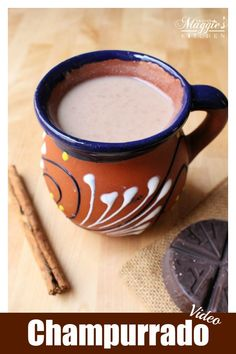 Champurrado is a thick, warm Mexican chocolate drink usually made during the winter months and Holiday season. Here, you will find a step-by-step tutorial and short video on how to make this delicious beverage. By Mama Maggie's Kitchen Authentic Mexican Recipes, Mexican Food Recipes, Mexican Desserts, Authentic Mexican Champurrado Recipe, Mexican Cooking, Easy Drink Recipes, Smoothie Recipes, Dessert Recipes, Coffee Recipes