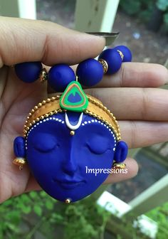 Polymer clay jewelry! Jai shree krishna :)