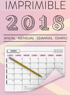 planificador imprimible 2018