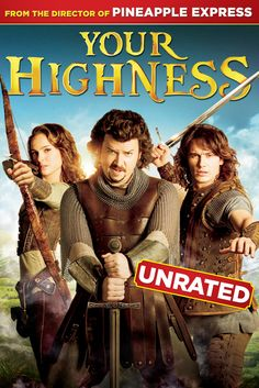 Your Highness (Unrated) Movie Poster - Natalie Portman, Danny McBride, Damian Lewis #YourHighness, #Unrated, #MoviePoster, #Comedy, #DavidGordonGreen, #DamianLewis, #DannyMcBride, #NataliePortman, #Poster
