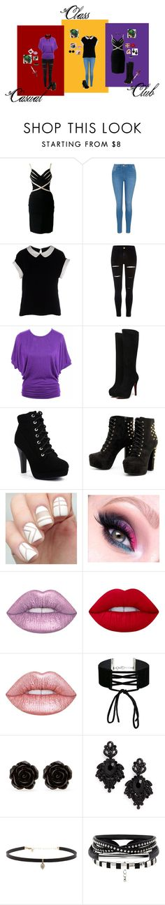 """RP"" by cobrakai72 ❤ liked on Polyvore featuring Hervé Léger, George, Armani Collezioni, River Island, jon & anna, Lime Crime, Miss Selfridge, Erica Lyons, Tasha and Carbon & Hyde"
