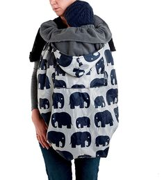 Waterproof sling cover for babywearing - fits all carriers and slings, front or back carries
