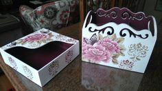 Decoupagem criação Fernanda Branco Shadow Box, Painting On Wood, Ideas Para, How To Make, Craftsman Deck Boxes, Kid Craft Gifts, Arts And Crafts, Diy And Crafts, Painted Boxes