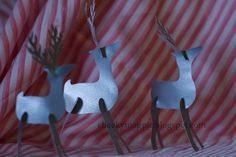 fleet of reindeer - PAPER CRAFTS, SCRAPBOOKING & ATCs (ARTIST TRADING CARDS)