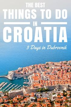 Things to do in Croatia: 3 Days in Dubrovnik. Want to know how to spend three days in Dubrovnik doing something a little different and in luxury – the kind of luxury that every-day people can afford? Here is what I suggest you do in Dubrovnik.