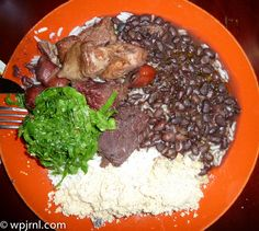 Feijoada is a stew of beans with beef and pork, which is a typical dish in Portuguese and Brazilian Cuisine, is also typical in Angola, Mozambique, Goa, India