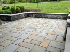 PA blue stone rectilinear design | ... bluestone pool coping view details green brown natural cleft bluestone