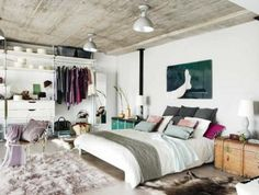Eclectic Bedroom Ideas: Get The Perfect Look This Year There are different types of bedroom interior designs but nowadays the eclectic bedroom is famous. So here are the beautiful eclectic bedroom ideas for you to redecorate your bedroom interior! Bedroom Loft, Home Bedroom, Bedroom Decor, Bedroom Ideas, Dream Bedroom, Modern Bedroom, Bedroom Ceiling, Minimalist Bedroom, Contemporary Bedroom