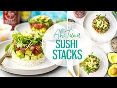 These Ahi Tuna Sushi Stacks are a delicious copycat version of the ones on the menu at Canadian restaurant chain Cactus Club Cafe - with a sesame-soy marinade, avocado, cucumber & micro greens, it's a deliciously light dinner idea!