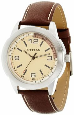 Amazon.in: Buy Titan Tagged Analog Beige Dial Men's Watch - 1585SL02 Online at Low Price in India | Buy Watches Online