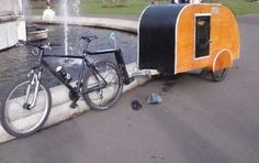 Who wouldn't want the convenience of a bicycle and a caravan?