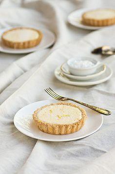 Lemon Macaron Tarts Recipe - A tart that has a macaron crust! Gluten-free