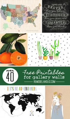 40 Free Art Printables for Gallery Walls | save a little money while making a beautiful statement in your home!
