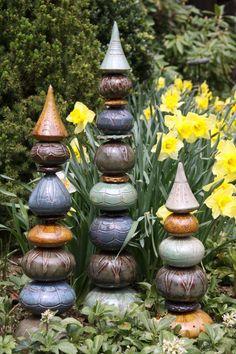 Ceramic totems