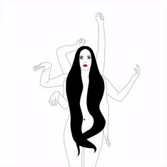 xavieralopez animation dance illustration hair