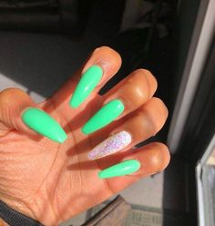 How to choose your fake nails? - My Nails Best Acrylic Nails, Summer Acrylic Nails, Acrylic Nail Designs, Summer Nails, Aycrlic Nails, Coffin Nails, Glitter Nails, Fire Nails, Dream Nails