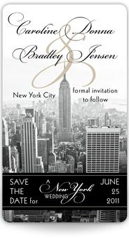 NYC save the date magnet