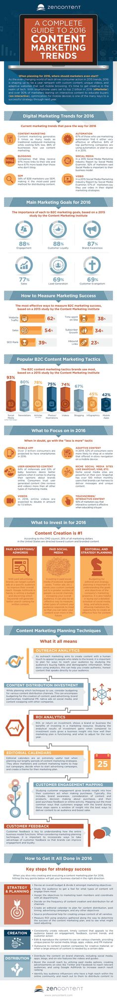 A Guide to 2016 Content Marketing Trends [Infographic]  Content marketing is an ever-evolving opportunity for marketers to reach new customers and gather data on their unique audience. But with the constant changes in the digital world, content creation needs to progress at an almost alarming rate.