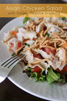 salad chinese chicken salad asian salad with sesame ginger vinaigrette ...